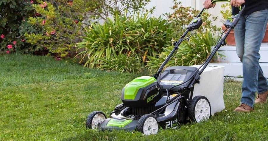 Greenworks Mower In Action